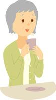 コーヒーを楽しむシニア女性 60008000341| 写真素材・ストックフォト・画像・イラスト素材|アマナイメージズ