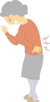 腰痛に苦しむシニア女性 60008000407| 写真素材・ストックフォト・画像・イラスト素材|アマナイメージズ