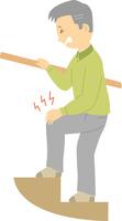 関節痛に苦しむシニア男性 60008000408| 写真素材・ストックフォト・画像・イラスト素材|アマナイメージズ