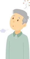 老人性うつ病のシニア男性
