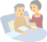 妻が夫を介護する老老介護 60008000416| 写真素材・ストックフォト・画像・イラスト素材|アマナイメージズ