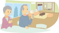 広すぎる家に住むシニアカップル 60008000419| 写真素材・ストックフォト・画像・イラスト素材|アマナイメージズ