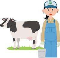 畜産業に従事する若い女性 60008000433| 写真素材・ストックフォト・画像・イラスト素材|アマナイメージズ