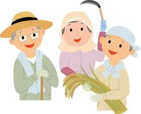 農業に従事する元気な高齢者 60008000437| 写真素材・ストックフォト・画像・イラスト素材|アマナイメージズ