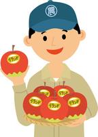 ブランド農産物をアピールする農家 60008000439| 写真素材・ストックフォト・画像・イラスト素材|アマナイメージズ