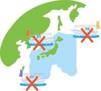 外交問題で漁獲量が減る