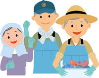 漁業に従事する元気な高齢者 60008000463| 写真素材・ストックフォト・画像・イラスト素材|アマナイメージズ