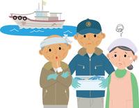 高齢化に悩む漁業従事者 60008000464| 写真素材・ストックフォト・画像・イラスト素材|アマナイメージズ