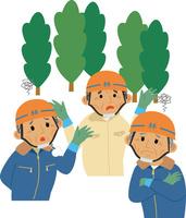高齢化に悩む林業従事者 60008000466| 写真素材・ストックフォト・画像・イラスト素材|アマナイメージズ