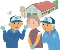 高齢化に悩む畜産業従事者 60008000468| 写真素材・ストックフォト・画像・イラスト素材|アマナイメージズ