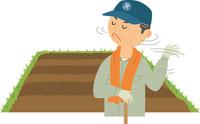 土地を手放さない頑固な農家 60008000469| 写真素材・ストックフォト・画像・イラスト素材|アマナイメージズ