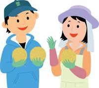 農業就労した若者が果物を生産 60008000472| 写真素材・ストックフォト・画像・イラスト素材|アマナイメージズ