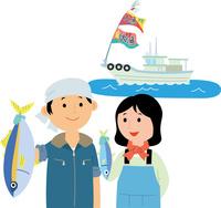 若者の漁業就労 60008000474| 写真素材・ストックフォト・画像・イラスト素材|アマナイメージズ