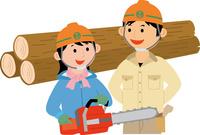 若者の林業就労 60008000475| 写真素材・ストックフォト・画像・イラスト素材|アマナイメージズ