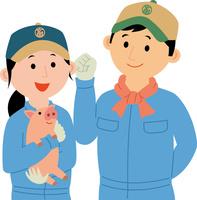 若者の畜産業就労 60008000476| 写真素材・ストックフォト・画像・イラスト素材|アマナイメージズ