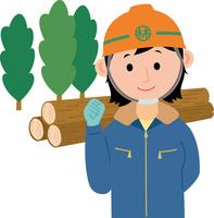 林業に従事する若い女性 60008000514| 写真素材・ストックフォト・画像・イラスト素材|アマナイメージズ