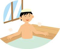 温泉でくつろぐ男性 60008000517| 写真素材・ストックフォト・画像・イラスト素材|アマナイメージズ