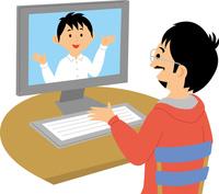 Web会議 60008000522| 写真素材・ストックフォト・画像・イラスト素材|アマナイメージズ