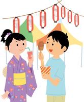 お祭りイベントの集客 60008000527| 写真素材・ストックフォト・画像・イラスト素材|アマナイメージズ