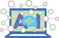 人工知能 ネットワークのイメージ