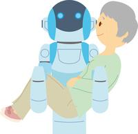 要介護者を運ぶ介護ロボット 60008000554| 写真素材・ストックフォト・画像・イラスト素材|アマナイメージズ