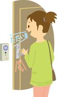 声紋認証で開く玄関