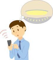 スマホで操作する照明 60008000609| 写真素材・ストックフォト・画像・イラスト素材|アマナイメージズ