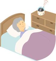 高齢者を見守るロボット 60008000613| 写真素材・ストックフォト・画像・イラスト素材|アマナイメージズ