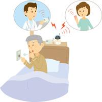 高齢者の見守りと緊急連絡システム 60008000614| 写真素材・ストックフォト・画像・イラスト素材|アマナイメージズ
