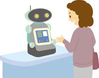 受付対応をするロボット 60008000620| 写真素材・ストックフォト・画像・イラスト素材|アマナイメージズ