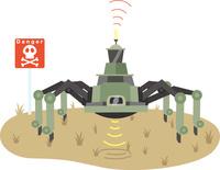 地雷探査ロボット
