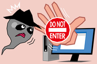 ウィルスの侵入を防ぐセキュリティ