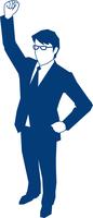 右手でガッツポーズをするビジネスマン 60009000142| 写真素材・ストックフォト・画像・イラスト素材|アマナイメージズ