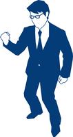 右手でガッツポーズをするビジネスマン 60009000144| 写真素材・ストックフォト・画像・イラスト素材|アマナイメージズ