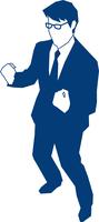 両手でガッツポーズをするビジネスマン 60009000145| 写真素材・ストックフォト・画像・イラスト素材|アマナイメージズ