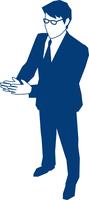 拍手をするビジネスマン 60009000146| 写真素材・ストックフォト・画像・イラスト素材|アマナイメージズ