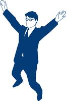 応援をするビジネスマン 60009000147| 写真素材・ストックフォト・画像・イラスト素材|アマナイメージズ