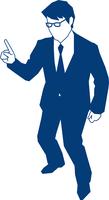 人差し指を立てるビジネスマン 60009000148| 写真素材・ストックフォト・画像・イラスト素材|アマナイメージズ