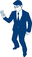 三本の指を立てるビジネスマン 60009000150| 写真素材・ストックフォト・画像・イラスト素材|アマナイメージズ