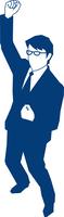 ガッツポーズをするビジネスマン 60009000151| 写真素材・ストックフォト・画像・イラスト素材|アマナイメージズ
