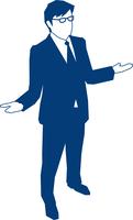 お手上げのポーズをするビジネスマン 60009000152| 写真素材・ストックフォト・画像・イラスト素材|アマナイメージズ