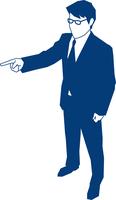 指差し指示をするビジネスマン 60009000153| 写真素材・ストックフォト・画像・イラスト素材|アマナイメージズ