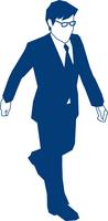 歩くビジネスマン 60009000158| 写真素材・ストックフォト・画像・イラスト素材|アマナイメージズ