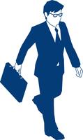 カバンを持って歩くビジネスマン 60009000159| 写真素材・ストックフォト・画像・イラスト素材|アマナイメージズ