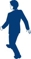 歩くビジネスマンの後ろ姿 60009000160| 写真素材・ストックフォト・画像・イラスト素材|アマナイメージズ