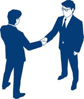 握手をする二人のビジネスマン 60009000162| 写真素材・ストックフォト・画像・イラスト素材|アマナイメージズ