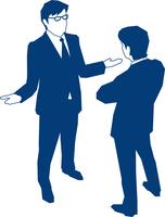会話をする二人のビジネスマン 60009000165| 写真素材・ストックフォト・画像・イラスト素材|アマナイメージズ