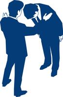 頭を下げるビジネスマン 60009000168| 写真素材・ストックフォト・画像・イラスト素材|アマナイメージズ