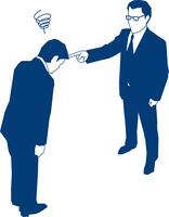 上司に怒られるビジネスマン 60009000169| 写真素材・ストックフォト・画像・イラスト素材|アマナイメージズ