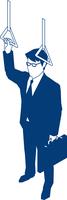 吊革につかまるビジネスマン 60009000173| 写真素材・ストックフォト・画像・イラスト素材|アマナイメージズ